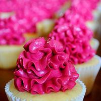Hot Pink Cupcakes