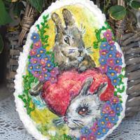 easter rabbit cookie
