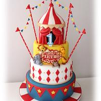 Circus cake for Pietro's first birthday