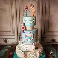 Bubble Guppies Cake.