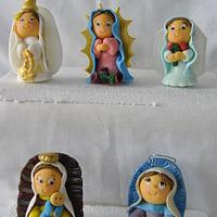 Cake Toppers First Communion: little virgins by Hellen