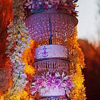 Elegant Blossom Chandelier Wedding cake