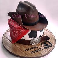Western themed 30th birthday cake