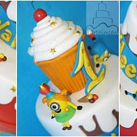 Minion party cake by Ewa