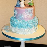Anna and Elsa cake.