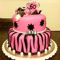 Pink 60th for a Shopaholic!
