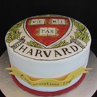 Harvard graduation cake