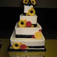 Sunflowers and Chrysanthemums by all4show
