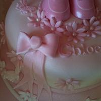 Christening cake  by Tracey