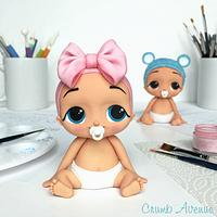 Cute Baby Cake Topper