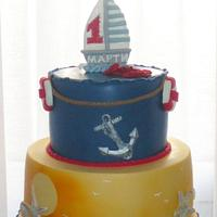 Sailor cake for first birthday