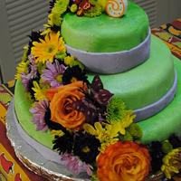 Spring Birthday cake for 65 years old by louie