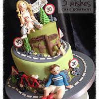 Wonky cycling cake!