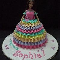 Sophie's Doll Cake  by Pia Angela Dalisay Tecson