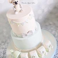 Koala Bear Christening Cake