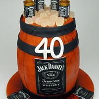 Jack Daniel's Barrel Cake