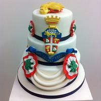 Cake for national military police of Italy