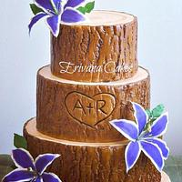 Tree Trunk / Log wedding cake