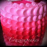 valentines petal cake