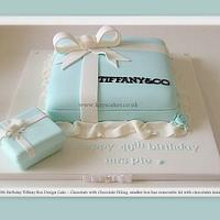 Another Tiffany Box Inspired Cake - smaller version.