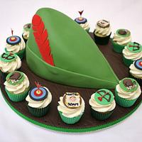 Robin Hood Hat and Mini Cupcakes