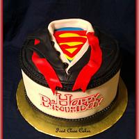 Superman/Clark Kent dress shirt cake