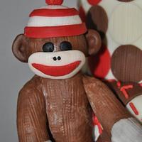 Sock Monkey Cake by SimplyIrresistible