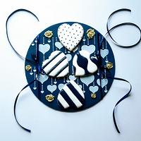 White&Navy marina&love themwd cookies :)