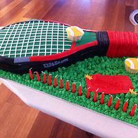 Tennis Racquet Cake
