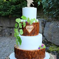 Rustic weddingcake