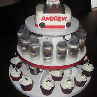 Bowling Cupcake Tower
