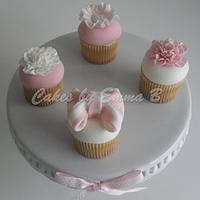 Pink and White Mothers Day Cupcakes by CakesByEmmaB
