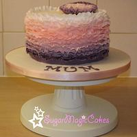 My First Ombre Ruffle Cake!