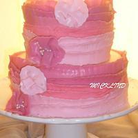 AN OMBRE RUFFLE CAKE