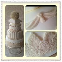 Vintage Pillow and swags cake