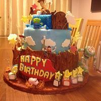 Birthday cake inspired by toy story