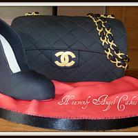 Christian Louboutin shoe and Chanel bag