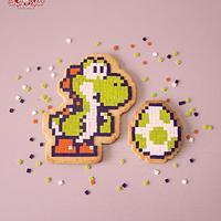 Yoshi's Sugar Pixel Art Cookie