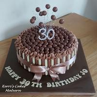 30th Chocolate Cake x