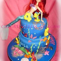 Little mermaid / Ariel / underwater cake