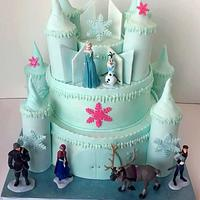 Pleasing Frozen Castle Birthday Cake Cake By Christies Custom Cakesdecor Funny Birthday Cards Online Overcheapnameinfo