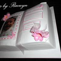 Little Olivia's Christening Cake by Raewyn Read Cake Design