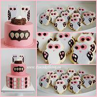 Owl Themed Baby Shower  Cookies