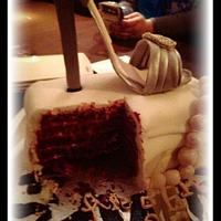 Monolo red velvet shoe cake by sumbi