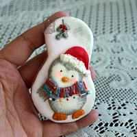 Christmas Penguin cookie <3