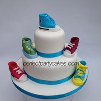 Converse shoe christening cake