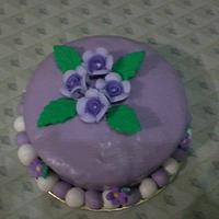 My 1st Fondant Cake ^_^ by maria vilma a. coronado