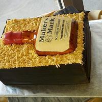 Makers Mark Grooms Cake