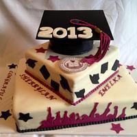 Graduation cake 2013 - Dynamic Duo - Mother daughter Grads