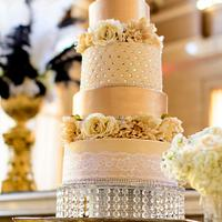 """20's Glam"" Wedding Cake"